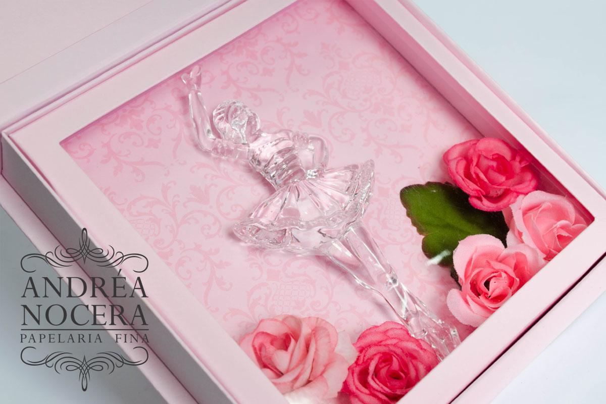 Convite com bailarina e Flores