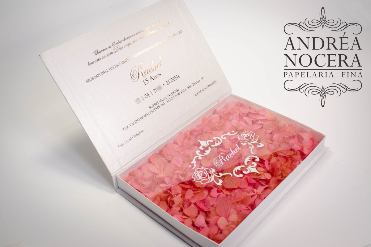 Convite de 15 anos Floral Villa Bisutti