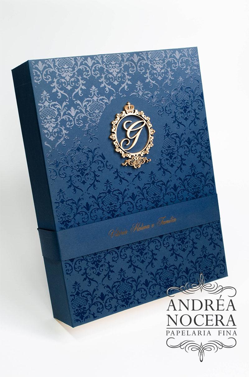 convite princesa castelo ouro azul