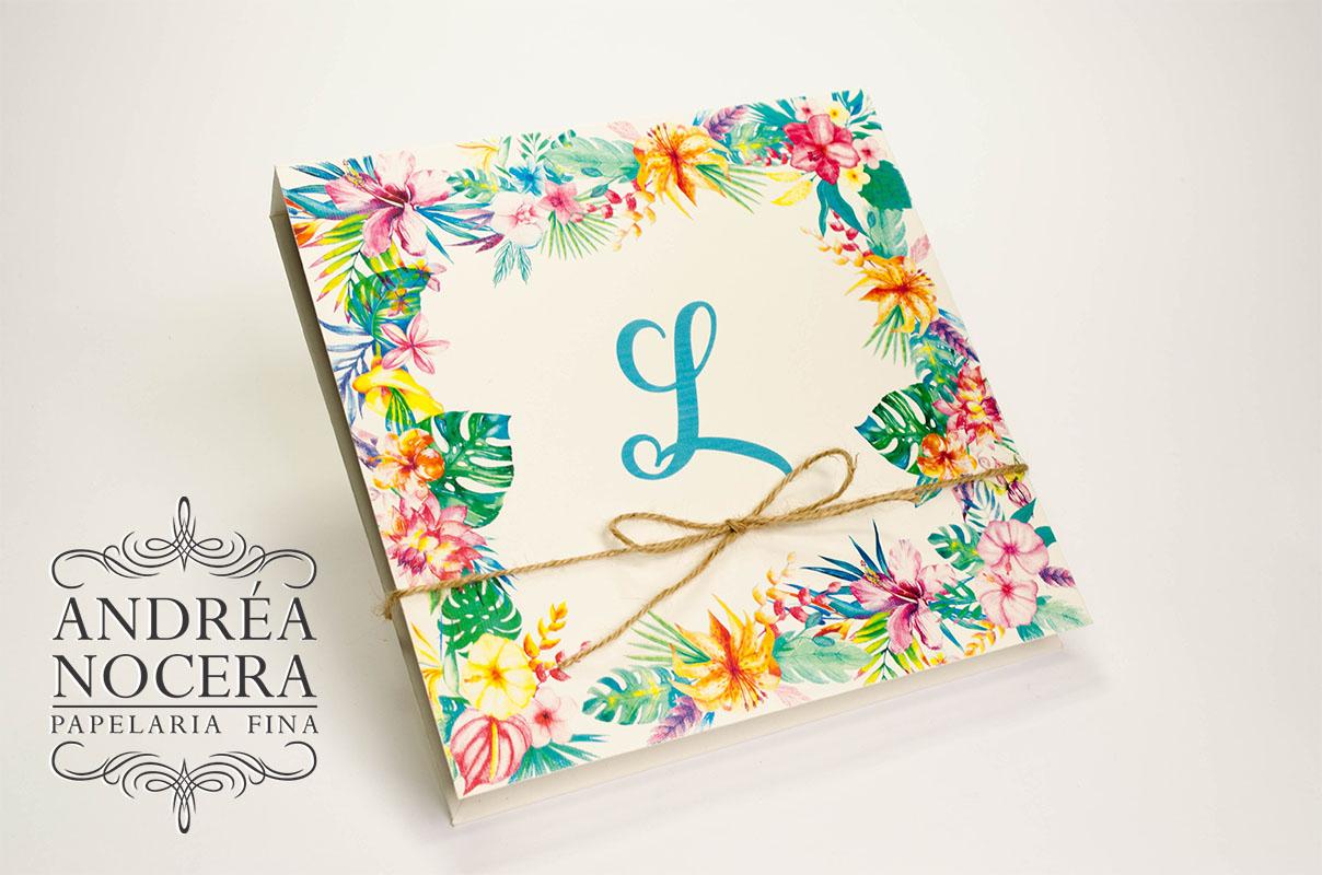 Convite floral de Caixa